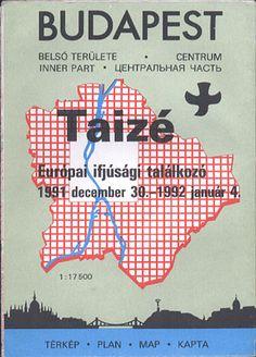 Budapest. Plan centrum. 1:17 500. Specjalne wydanie na Europejskie Spotkanie Młodych zorganizowane przez wspólnotę z Taizé 30.XII.1991 - 4.I.1992. Plan centrum, komunikacja, miejsca spotkań, b. wyd., b. r. wyd., http://www.antykwariat.nepo.pl/budapest-plan-centrum-117-500-p-13525.html