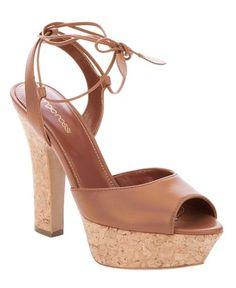 147590da5ddc Christian Louboutin Echasse Ankle-Wrap Platform Sandal Pewter