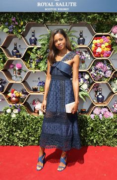Naomie Harris attends the Royal Salute Coronation Cup at Guards Polo Club on July 23, 2016