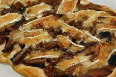 mushroom and brie tart, delicious!