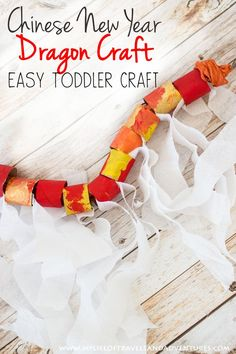 Toddler Dragon Craft + Easy Chinese New Year Celebration