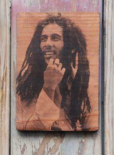 Bob Marley wood transfer art decor by valazozartandvintage on Etsy, $10.00