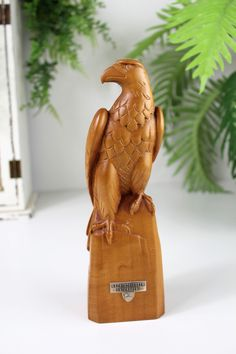 Excited to share this item from my #etsy shop: Vintage Eagle Statue, Vintage Target Shooting Trophy, Wooden Trophy, Handcarved Trophy, Vintage Switzerland, Wood Bird #collectables #vintagemedal #hawkstatue #eaglestatue #birdstatue #trophycollection #woodornamentbird #handcarvedtrophy #vintageswitzerland