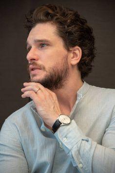 Kit Harington, Curly Hair Men, Curly Hair Styles, Celebs, Celebrities, Gorgeous Men, Daniel Wellington, Jon Snow, Game Of Thrones