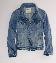 I NEED this denim jacket from AE where I work