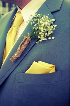Grey and yellow wedding Country wedding - like this boutonniere Wedding Attire, Wedding Themes, Chic Wedding, Trendy Wedding, Floral Wedding, Fall Wedding, Rustic Wedding, Our Wedding, Dream Wedding
