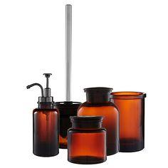 Buy John Lewis Amber Glass Soap Pump / Lotion Dispenser Online at johnlewis.com £15