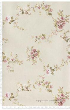 Papier peint classique anglais roses fleurs papier peint for Papier peint lutece chambre