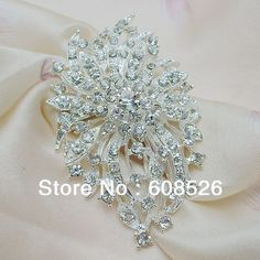 free shipping 1 piece Floral Rhinestone crystal Elegant Brooch pin for wedding and gift, item no.: BH7370 $2.66