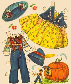 Image result for VINTAGE UNCUT 1952 CINDERELLA JACK & JILL PAPER DOLLS~#1 REPRODUCTION~NOSTALGIC