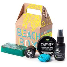 Beach Box (94 BRL) ❤ liked on Polyvore featuring beauty products, bath & body products, makeup and beauty