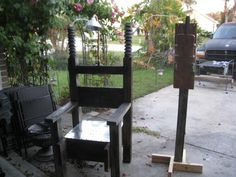 electric chair plans halloween. halloween electric chair \u0026 switch build on forum plans