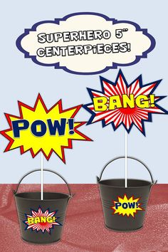 Great idea for our Superhero day - throw bean bags into the buckets - much more exciting!!