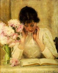 The reading girl, 1896 by Alexander C.W. Duncan born in Scotland, UK fl. 1884-1932