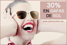 No te olvides que tenemos un 30% de #descuento en todas las #gafasdesol. Avenida de las Tres Cruces, 5, Zamora. www.zamoravision.es