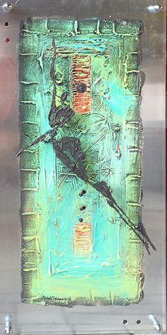 Acrylic paint on acrylic glass and aluminum  by Elisabeth Takvam