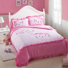 Hello Kitty Bedding Sets,Pink Hello Kitty Comforter Set