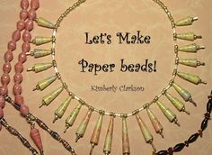 How To Make Paper Beads! PDF tutorial