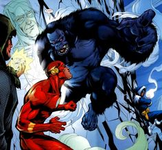 Time for the Ape of the Day!  Fun fact: When trying to compensate for the Flash's superior speed, Grodd often resorts to distraction.