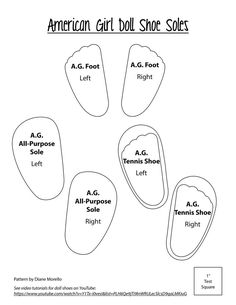 Résultat d'images pour Free American Girl Shoe Patterns Doll Clothes American Girl Doll Shoes, American Girl Crochet, American Girl Diy, American Girl Accessories, American Doll Clothes, Doll Accessories, American Dolls, Sewing Doll Clothes, Girl Doll Clothes