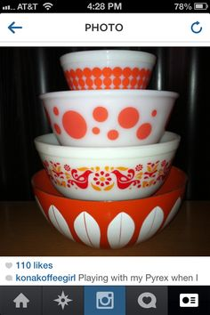 Pyrex, Hazel Atlas, Catherineholme display..These are some RED I do NOT have...but so dearly