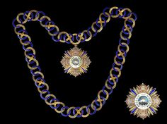 A silver-gilt and enamel Collar and Breast Star of the Order of Pahlavi (Nishan-i-Pahlavi) reputedly awarded to Emperor Haile Sellassie of Ethiopia by Arthus Bertrand, Paris, circa 1964 Provenance: Swiss private collection, acquired Sotheby's, Objects of Vertu, Orders and Decorations, Russian Works of Art and Faberge, Geneva, 16th and 18th May 1995, lot 100; reputedly bestowed upon Haile Sallassie of Ethiopia.CLICK FOR LARGER PICTURE https://www.bonhams.com/auctions/22813/lot/76/