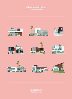 AR magazine / City portrait on Illustration Served Illustration Sketches, Digital Illustration, Graphic Illustration, Illustrations Posters, Gfx Design, Graphic Design, Web Design Awards, Isometric Design, Shape Art