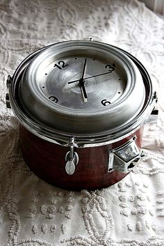 Perfect gift for the hubs, clock for his drum room!