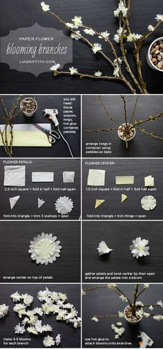 ideas origami dress diy paper flowers for 2019 Fake Flowers, Diy Flowers, Fabric Flowers, Flower Diy, Blooming Flowers, Small Flowers, Wedding Flowers, Diy Paper, Paper Crafts