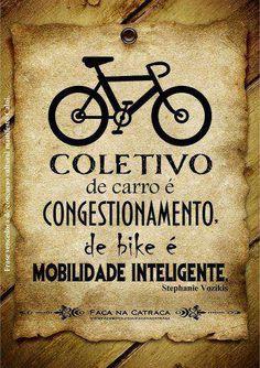 Coletivo de Carro e Congestionamento, de bike e Mobilidade Inteligente.