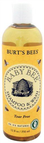 Burt's Bees Baby Bee Shampoo and Wash, 12 Ounce Bottles (Pack of 3): This all-in-one wash is a natural, tear-free formula that combines gentle cleansers from coconut and sunflower oils with enriching soy protein to create a deeply nourishing cleanser that leaves baby's hair and skin silky soft. As if baby wasn't already snuggable enough.