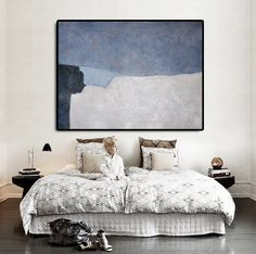 Large Abstract Art Oil Painting Canvas Art di CelineZiangArt
