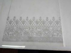 Hand Embroidery Design Patterns, Textile Pattern Design, Hand Embroidery Projects, Hand Work Embroidery, Embroidery On Clothes, Embroidery Motifs, Embroidery Tattoo, Embroidery Dress, Pattern Paper