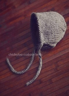 Newborn Classic Bonnet in Walnut by chickyloo on Etsy