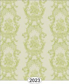 Living Room Wallpaper - Chloe Lace - Green