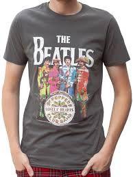 "Rockstarz T-shirt Beatles ""Sgt Pepper"" Grey Beatles Shirt, The Beatles, Beatles Sgt Pepper, Lonely Heart, Abbey Road, Stuffed Peppers, Album, Grey, Sleeves"