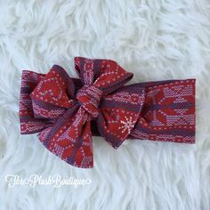 A personal favorite from my Etsy shop https://www.etsy.com/listing/457827538/red-heart-snowflake-christmas-knit-bow