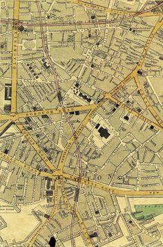 1868 map of Blackfriars Bridge Road, Borough etc.