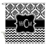 Personalise initials, monograms on Shower curtains