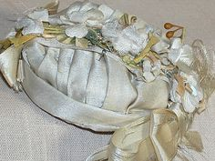 "French Fashion Bebe Silk Doll Hat 3.5"" by 2-1/4"" from annmariesantiquedolls on Ruby Lane"