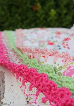 crochet edge - just like my grandmother used to do along the edges of face-washers! memories!