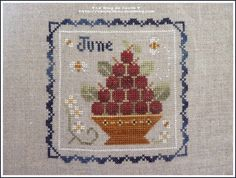 LHN_june_juin_2012_a Blog, Le Point, Cross Stitch Designs, Cross Stitching, Needlework, Stitches, Bohemian Rug, Creations, Embroidery