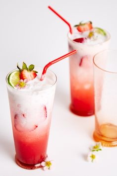 One for you, one for us. Get the recipe for these strawberry coconut sodas at blog.anthropologie.com.
