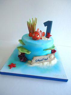 - Cake by Diletta Contaldo Under Sea Cake, Cupcakes, Cupcake Cakes, Dory Cake, Finding Nemo Cake, Fondant People, Single Tier Cake, Sea Cakes, Summer Cakes