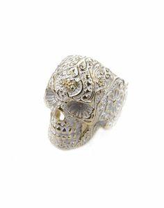Day of the dead sugar skull ring. Fancy