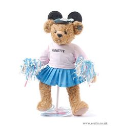 Bears Annette Funicello Pink Bear With White Bow On Head To Suit The PeopleS Convenience