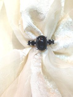 Black Star Sapphire Ring or Goth Engagement Ring by NorthCoastCottage Jewelry Design & Vintage Treasures on Etsy.com, $299.00  #handmade #jewelry #jewellery  www.etsy.com/shop/northcoastcottage