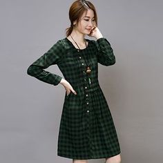 Buy 'Lovebirds – Long-Sleeve Check Dress' with Free International Shipping at YesStyle.com. Browse and shop for thousands of Asian fashion items from China and more!