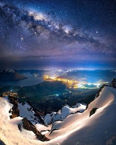 The Milky Way over Queenstown, New Zealand Photography by