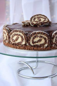 Kókusztekercstorta Hungarian Desserts, Hungarian Cake, Hungarian Recipes, Sweet Recipes, Cake Recipes, Dessert Recipes, Torte Cake, Sweets Cake, Sweet And Salty